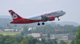 Air Berlin A-319 departing ZRH RWY 10