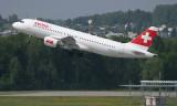 Swiss A-320 taking off rom ZRH RWY 16