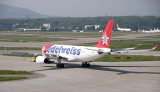 Eldewiss A-330 is being towed away from the terminal