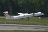 Croatia Dash-8-400 leaping off ZRH RWY 10
