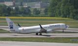 Sun Express 737-800 taking off from ZRH RWY 10