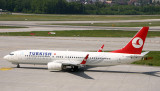 Turkish 737-800 began its taxi for take off, ZRH, May 2010