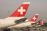 A flock of Swiss tails in ZRH