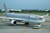 Asiana A-330-300 being pushed back at TPE, Aug 2008