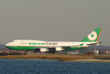 EVA 747-400 frieghter just landed, JFK 22L