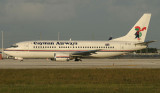 Cayman's 737-300 taxi toward MIA RWY 8R