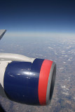 Midwest of US, engine of DL 757