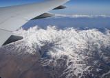 Snow covered mountains in Iran, enroute Dubai to JFK