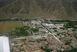 Traditional Tibetan buildings around Lhasa airport