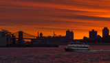 New York Waterway Sunrise
