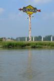 Abandoned Sunoco sign on Loramie Lake