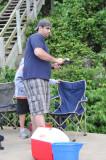 Jay hooks a catfish