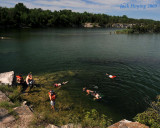 Snorkeling at the Quarry on Kellys Island