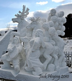 Chinese entry in the International Snow Sculpture Championship, Breckenridge, Colorado
