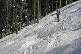 In the steep and deep bumps at Keystone, Colorado