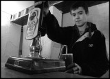 White Swan - Andrew pulls a pint