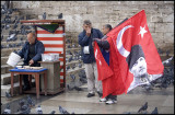 Flag and Pigeon Seed Sellers - New Mosque