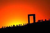 Sunset at the Apollo Temple, Naxos, Greece