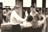 Mark Hilliard. Later Mark joined his brothers at the famous John Mark and Paul salon Mayfair