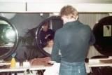 Henry cutting Sally's hair - Milan Salon