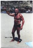 Robert Edel on a Calafornian beach in 2007.