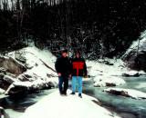 At Elk River Falls NC  50 Ft., Me & Son Craig