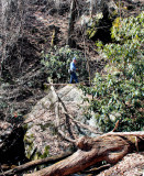 My Hike Bobby Steve  on a Rock Near The Feet of the Falls We found