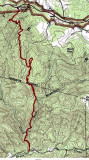 Map Of the hike 3/4/10  5.7 miles