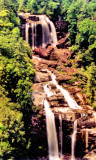 Whitewater Falls 411 Ft.  Highest Waterfalls  In NC