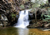 Lower Cascade Falls, 35 Ft .At Hanging Rock State Park NC