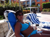 Kay at the pool