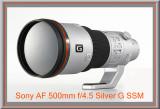 Sony AF 500mm f/4.5 G SSM