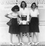 1942 - Lutrelle Conger (left) and two co-workers at Pan American Airways System