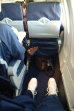 2008 - the view of the legroom at seat 12-F on a Southwest B737-700