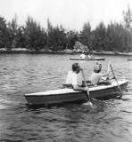 1940 - Inez Queenie and John Butch Skelton canoeing at Greynolds Park