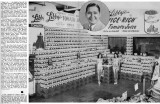 1950's - story about Jack High and the 1500 Libby Tomato Juice cans display at Shell's Super Store
