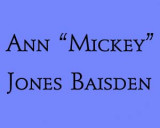 In Memoriam - Ann Mickey Jones Baisden