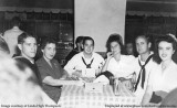 1943 - Julian White, Margo Bell, Jack High, Lutrelle Conger High, Remer Touchton and Jo Moore at the Frolic Club in Miami
