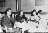 1940's - Jimmy Smith, his date?, Lutrelle Conger High and Jack High at the Sky Club on Tamiami Trail