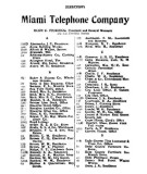 1907 - Miami Telephone Company phone book