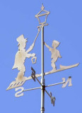Howard Johnson's Lamplighter Weather Vanes on top of the cupolas