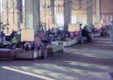 1973 - lobby of the Century Plaza Hotel in Century City, Los Angeles