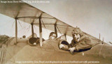Late 1910's - a flight student and flight instructor Joseph George Carpenter in a Curtiss JN-4B Jenny at Curtiss Field