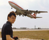 Mid 1980's - Karen's cousin Mitch Bassi with Air Canada B747-133 C-FTOE takeoff at Miami