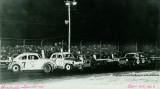 1967 - Ron Baker, #7, racing a mini stock car at Hialeah Speedway