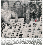 1966 - Mrs. Mary Strickland (later Smith) and Mrs. Margaret Walther at Catalina Cleaners honoring Hialeah boys in the military