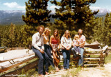 1979 - Butch and Sleet Eisenminger, Brenda Reiter, J. Boyd, Karen Dawn and Don Boyd at the Ponderosa Ranch