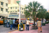 1972 - protesting hippies trying to disable a bus to disrupt traffic on Collins Avenue