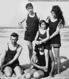1920's - John B. Mulvey with his family on the beach at St. Augustine, Florida