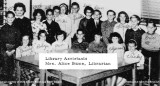 1963 - closeup of the DuPuis Elementary Library Assistants